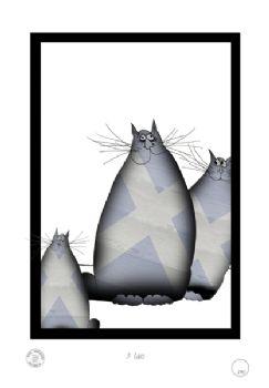 3 Shabby Chic Scottish Cats